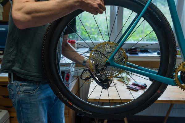 Einbau des Laufrads