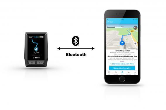 Die Verbindung zwischen Kiox und Handy erfolgt mit Bluetooth.