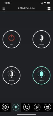 LED Rücklicht aktivieren