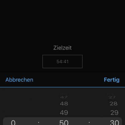 In Garmin Connect (oder auch direkt auf der Uhr) kann dann die Zielzeit oder die Pace vorgegeben werden.