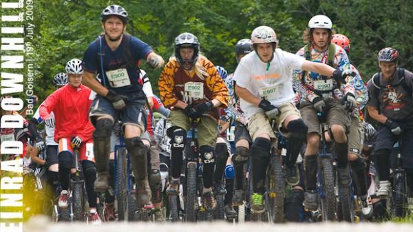 Einrad-Downhill bei der Trophy 09
