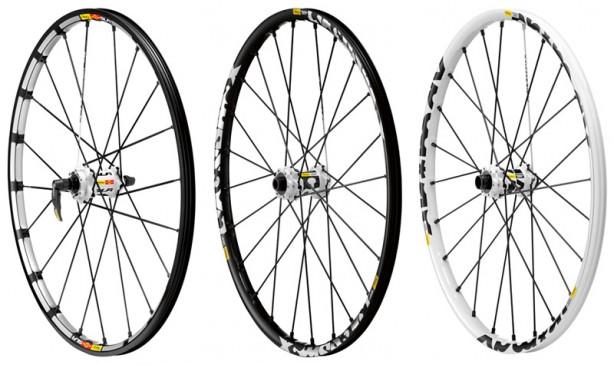 Crossmax VorderräderSLR, ST & SX (v.l.n.r.)