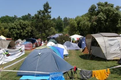 über den idyllischen Campingplatz