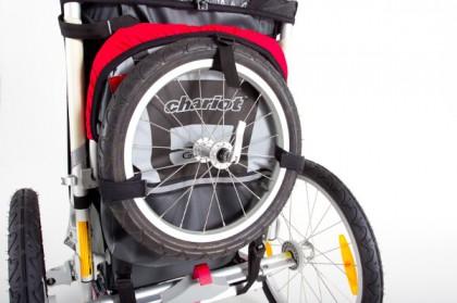 Auch das Joggingrad findet einen passenden Platz.