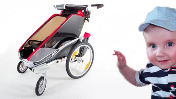 """Chariot Cougar Kindertransporter""""Seid fruchtbar und vermehret euch"""", sprach dereinst schon Gott zu den Menschen. """"Und dann legt euch einen Fahrrad-Anhänger von Chariot zu"""", rät Bikeboard.at"""