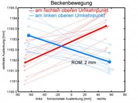 im Schnitt 2mm vertikale Bewegung (