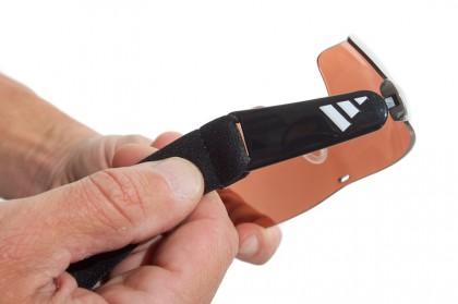 Bügel können gegen elastisches Kopfband getauscht werden