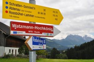 Die Beschilderung in Österreich war vorbildlich. In Deutschland war es damit leider vorbei.