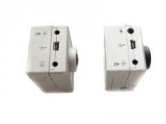 Links: Mikrofon-, TV- und USB-Anschluss