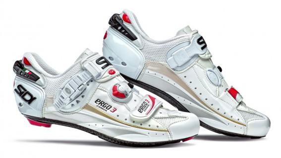 Sidi Ergo3 Carbon Rennradschuh weiß, in halben Größen von 38-48 erhältlich