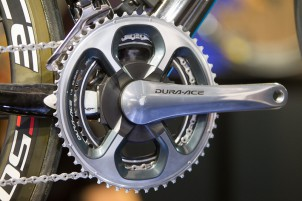 Team Sky Prototyp mit neuer Shimano Kurbel