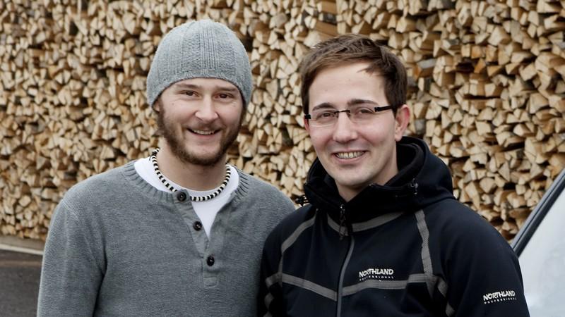 Michael Hausberger (li., 30, Das Buero ohne Namen) undJürgen Gruber (re.,31, groox Filmproduction).