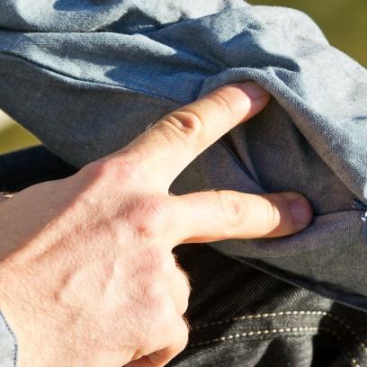 Zipp-Tasche am Ärmel
