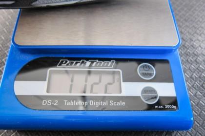 Hinterrad inkl. Latex-Schlauch, Reifen, Ventilverlängerung, ohne Ritzelpaket: 1.122 g