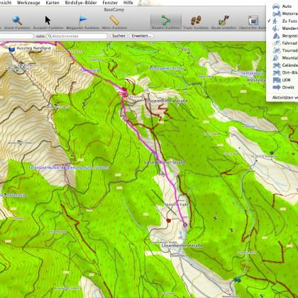 Modus: Zu Fuß führt über den Fadensteig auf den Schneeberg