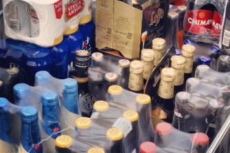 fassten wir Getränke aus.