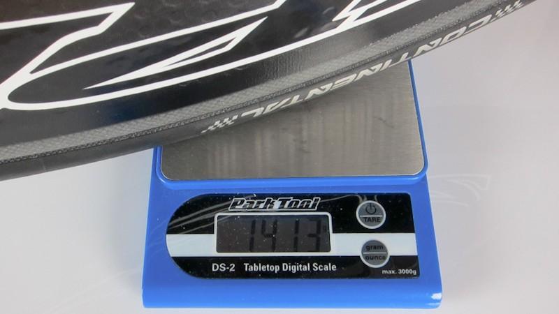 Disc inkl. Felgenband, Schlauch, Reifen: 1.413 Gramm