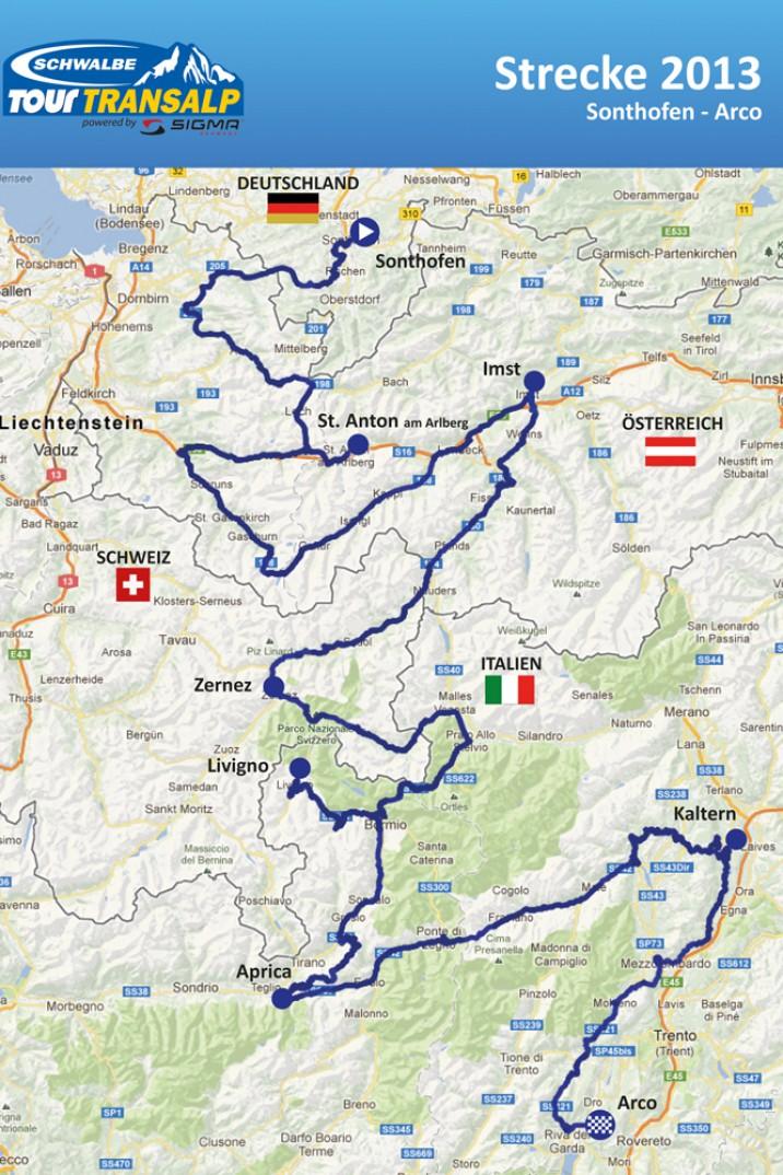 Start ist in Sonthofen im Allgäu, von wo aus es in sieben Etappen über 880 Kilometer und 18.500 Höhenmeter nach Arco am Gardasee geht. 650 Teams sind am Start.