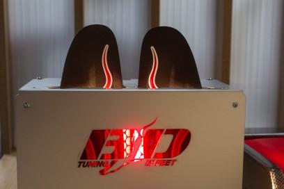 Parallel dazu werden die Einlagen im BD Speed Heat 25 Sekunden lange erhitzt.
