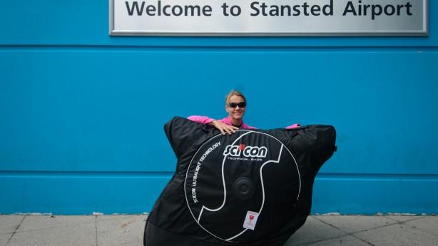 Scicon AeroComfort 2.0 TSA Soft CaseWir testeten die leichtgewichtige, stabile und sichere Radtasche mit Sylviis Cervelo P5 auf einer Flugreise nach London und wieder zurück.
