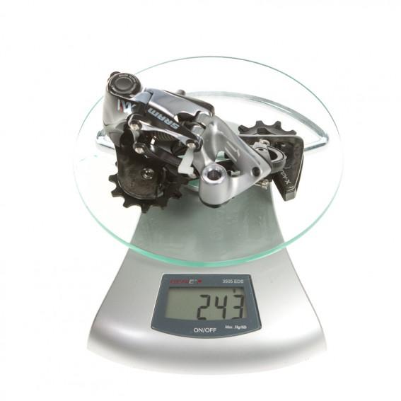 Das XX1 Schaltwerk ist deutlich schwerer als jenes der XX (181 g) bzw. XTR (176 g)