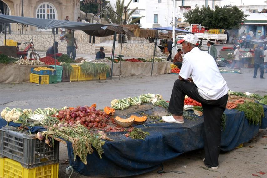 Wochenmarkt nahe den heiligen Quellen