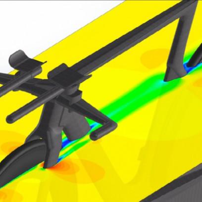 Durch umfangreiche Computational Fluid Dynamics (CFD) Studien am Computer wurde ein Profil entwickelt, das eine optimale Aerodynamik bei Geschwindigkeiten von rund 50 km/h hat.