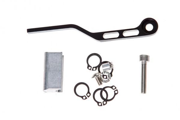 Lieferumfang: Kettenfänger, Umwerfer-Adapter, längere Schraube für Umwerferblech und Distanzringe für 8-fach Schaltungen