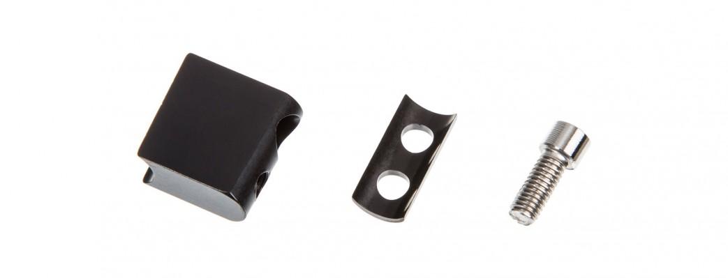 die Rotor Umwerfer Adapter für Anlötsockel erleichtern in vielen Fällen die Einstellung des Umwerfers (optional erhältlich)