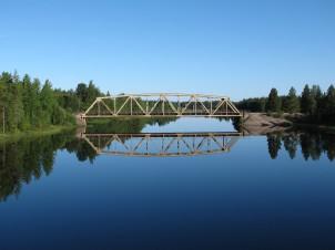 Fluss nahe Östersund.