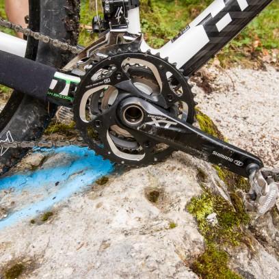... beim 975 Concept Frame ist das Tretlager mit kleinen Laufrädern zu tief.