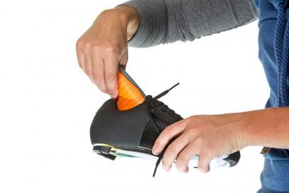 Zur Fußbett-Anpassung einfach Innensohle rausziehen,