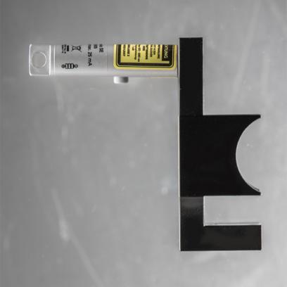 Spurtreu: das richtige Werkzeug zum korrekten Ausrichten von Lenker/Vorbau, aus Alu, Laserpointer Klasse 2, mit drei 1,5V LR44 Knopfzellen