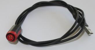 Der magnetische Stecker des Lade- und Datenkabels