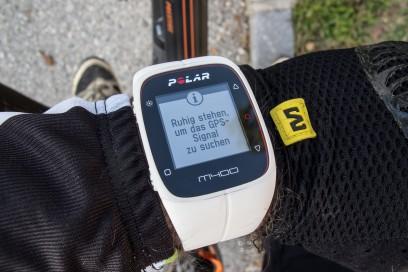 zum Initialisieren des GPS-Senders ist es nötig ruhig zu stehen