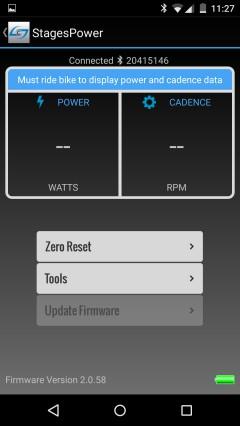 Die App zeigt Leistung und Trittfrequenz nur dann an, wenn auch kräftig in die Pedale getreten wird.