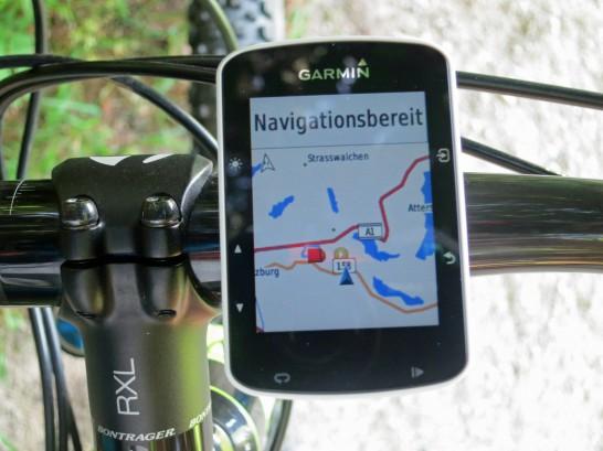 Navigiert wird mit der BaseMap - deutlich besser als ein Strich im Nirgendwo