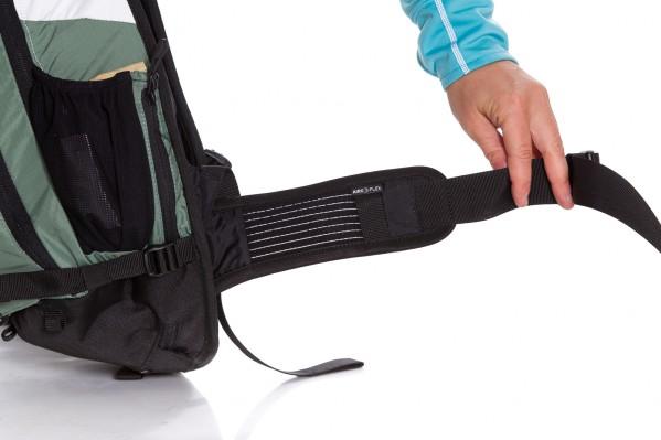 breiter, elastischer und luftdurchlässiger Airo Flex-Hüftgurt