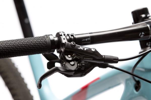 Die XT-Bremse arbeitet präzise und zuverlässig.