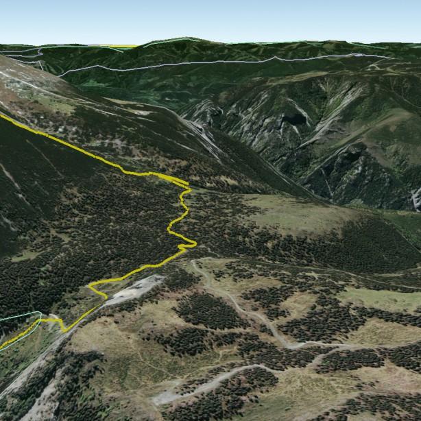 Fadensteig in Google Earth