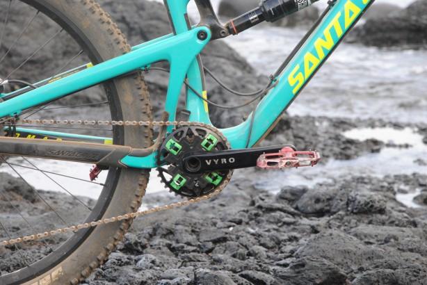 Die Kurbel an einem der Testräder. Für die Serie wird die Oberfläche noch matt.