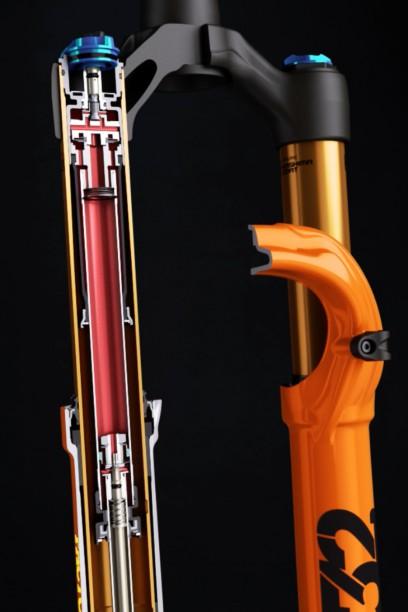 Die FIT4 Dämpereinheit mit RC2 10 mm Schaft (für höheren Ölfluss).