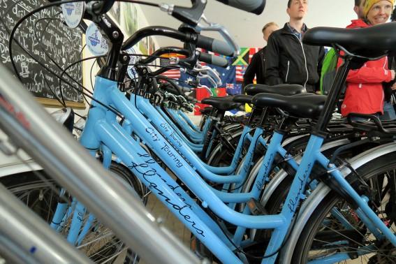 Citybikes und Fremdenführern