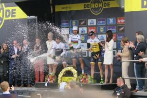 Sagan vor Cancellara und Vanmarcke.