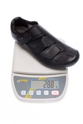 288 Gramm pro Schuh in Größe 43.