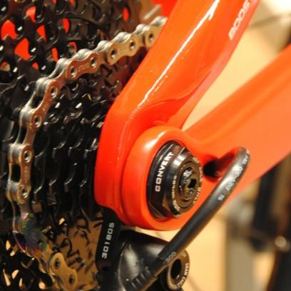 Dank ABP Technologie soll der Hinterbau auch beim Bremsen aktiv bleiben.