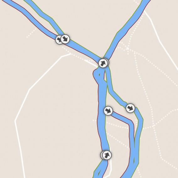 Abweichung Fenix3: 10 m