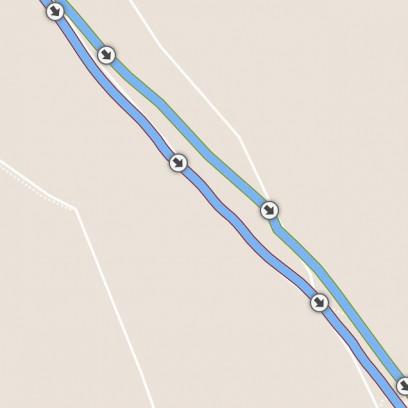Abweichung Fenix3: 5 m