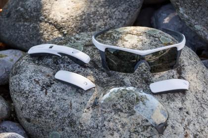 die Brille lässt sich auch ohne Anbauteile verwenden